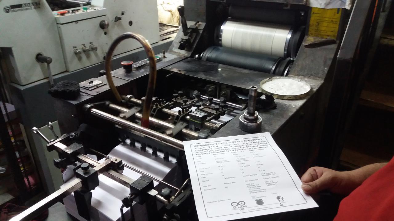Printing leaflets