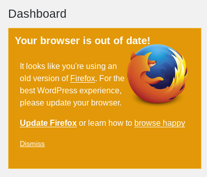 Firefox is out of date on wordpress.com